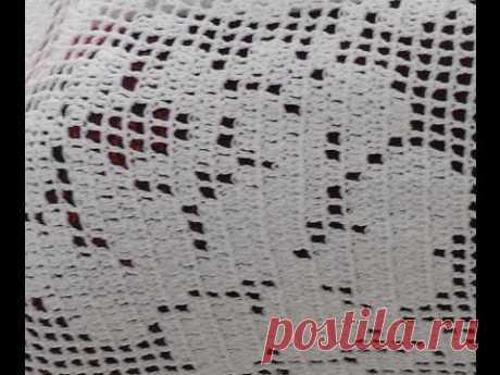"""Филейный мотив """"Роза"""" (filet crochet) (узор#26)"""