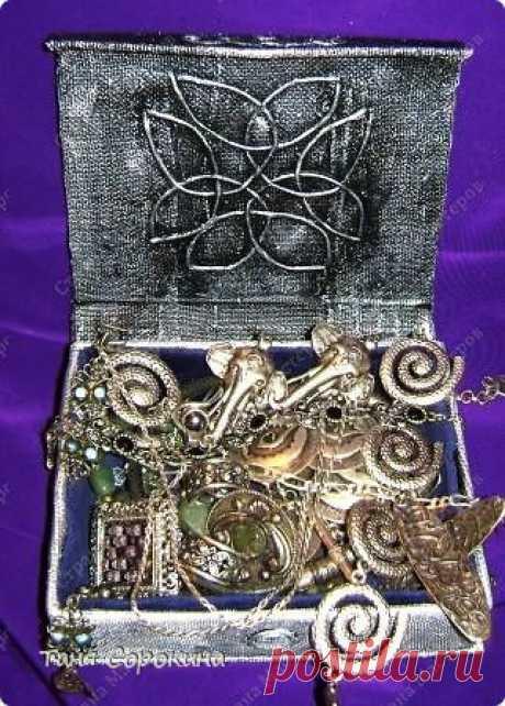 Шкатулка в кельтском стиле. Пейп-арт. Мини-МК. | Страна Мастеров
