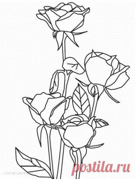Трафареты роз - картинки для скрапбукинга