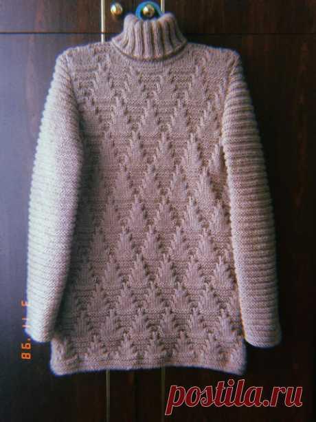 Узоры спицами для джемперов, кофточек, свитеров