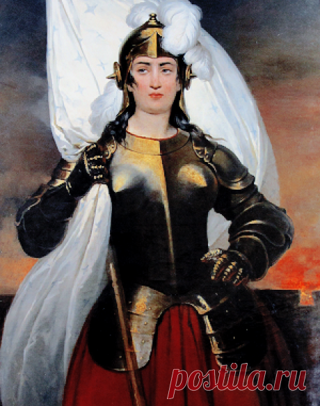 Various depictions of Joan of Arc | (Artist names in captions)