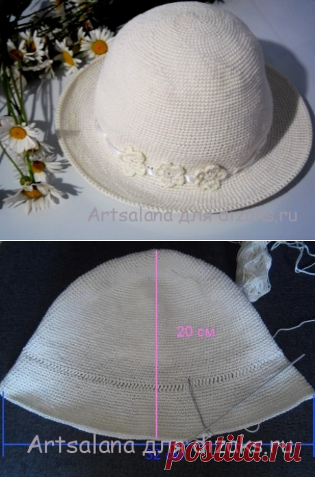 Как связать летнюю шляпу крючком своими руками