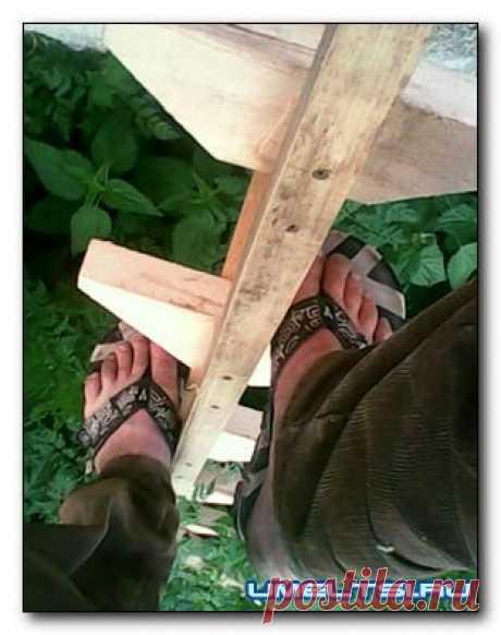 Garden portable wooden ladder