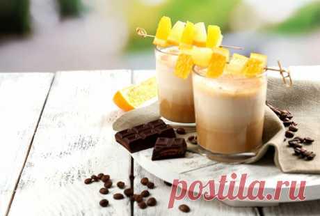 Кофейно-апельсиновый молочный коктейль