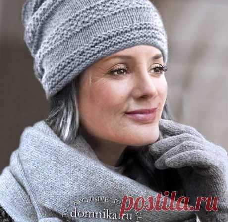 Вязание зимних шапок для дам пожилого возраста - 11 стильных моделей
