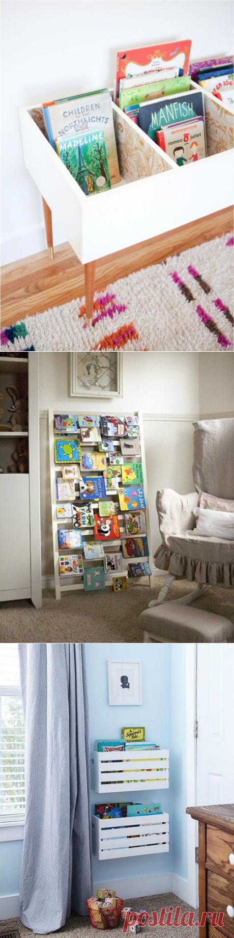 10 ideas del almacenaje de los libros infantiles