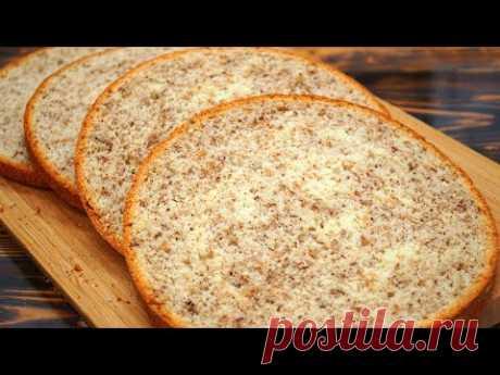 Получится у каждого! Высокий и пышный | Идеальный ореховый бисквит | Кулинарим с Таней
