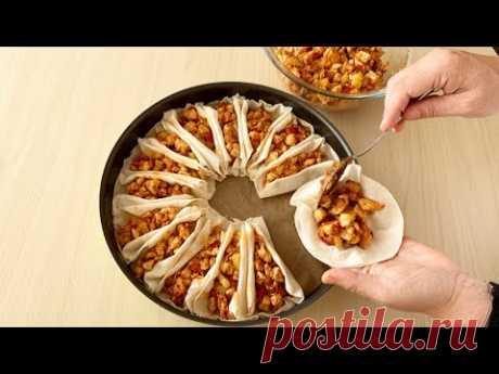 Ramazan'da Her gün Yapmak İsteyeceğiniz Yemek Tavuklu Beşamelli Yufkalı Sandallar🥰Bera TatlıDünyası