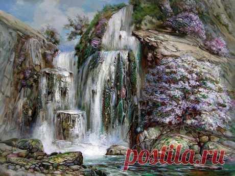 Водопады в живописи/ подборка