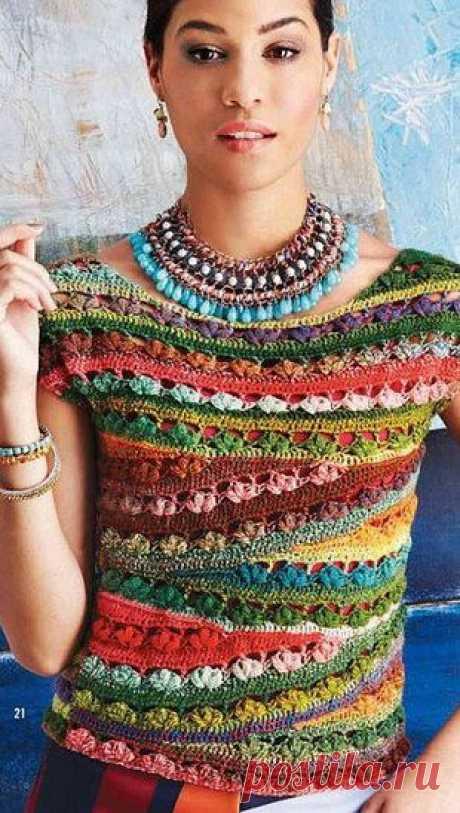 Оригинальный топ крючком | Рукоделие и вязание