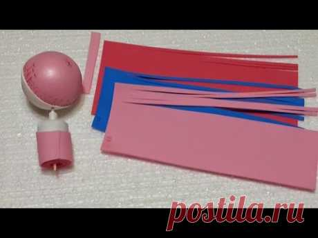 """How to make a doll of \""""Monster High\"""" of a foamiran. Part 2. Head."""