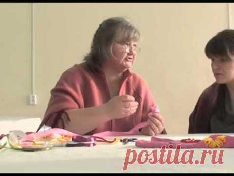 """Объемная вышивка лентами для начинающих  м/к от Елены Савельевой """"Букет"""""""