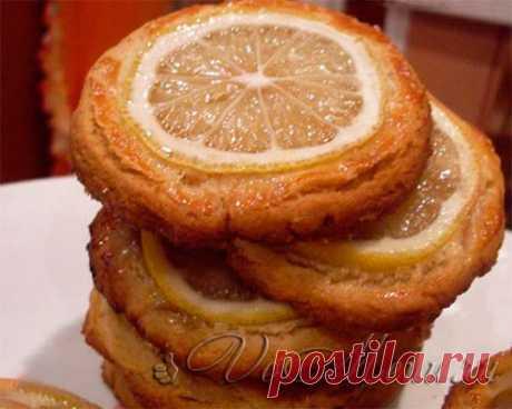 Миндальное печенье с лимоном Очень вкусное, божественное миндальное печенье с дольками лимона, просто здорово «уходит» за чашкой горячего ароматного чая .