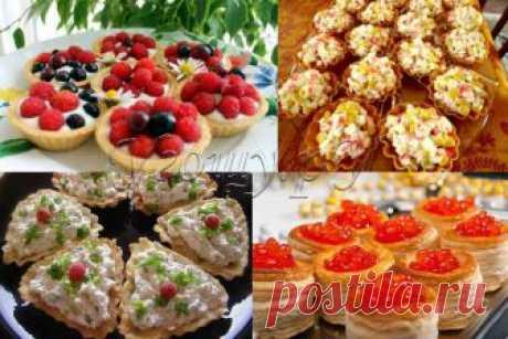 Testo para tartaletok (6 recetas de la foto y el vídeo), de arena, hojaldrado y caseoso