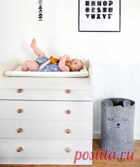 Корзина «Мишка» для белья или игрушек — идеальная находка для детской комнаты — Дом-Цветник