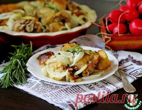 Курица, запеченная с хлебом – кулинарный рецепт