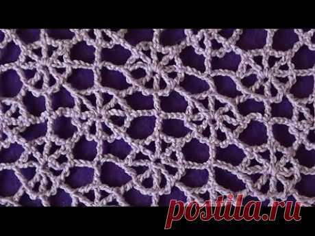 Ажурный узор Паутинка - Lace pattern Cobweb
