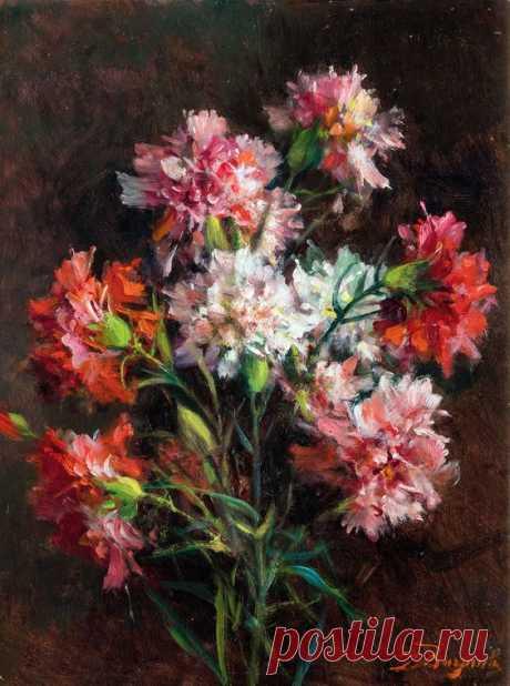 Carnations by Licinio Barzanti (1857-1944)