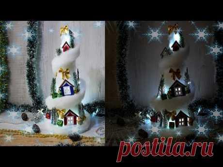 НОВОГОДНИЕ ПОДЕЛКИ. Зимние поделки своими руками.Новогодний декор. Ёлочка. DIY Christmas crafts.