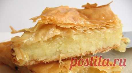 Молочный пирог галактобуреко: вкуснейшее лакомство из Греции