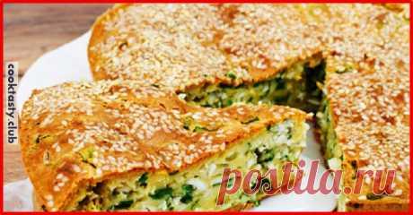 Пирог с зеленым луком, курицей и сырной корочкой . Милая Я
