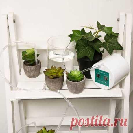 Набор для капельного полива домашних растений с таймером в Москве