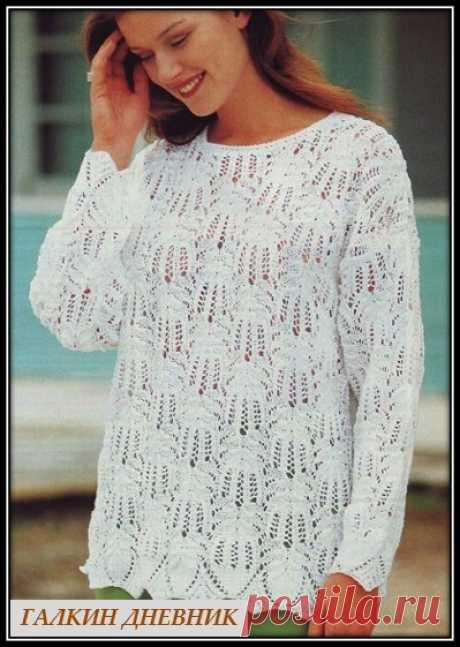 ГАЛКИН ДНЕВНИК : Ажурный пуловер для полных дам