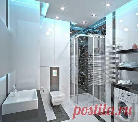 Стиль Хай-тек в интерьере: кухня, спальня, ванная и гостиная