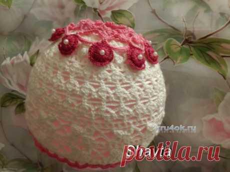 Летняя шапочка Полина. Работа Оксаны Усмановой