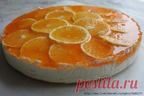 """Торт """"Оранжевое настроение""""."""