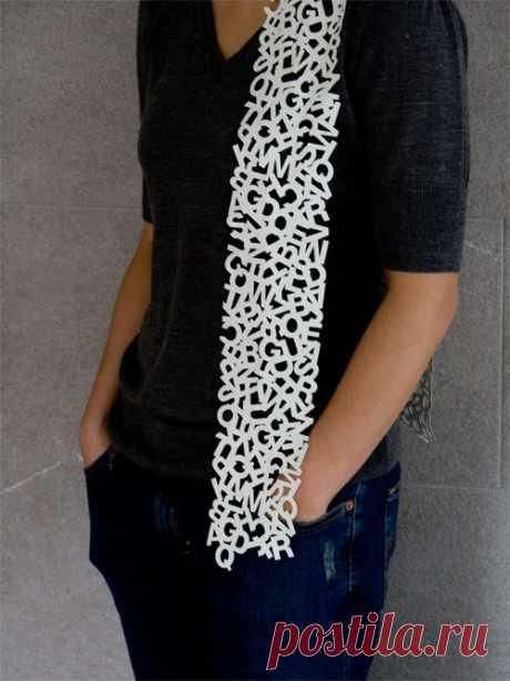 Буквенный шарф Модная одежда и дизайн интерьера своими руками