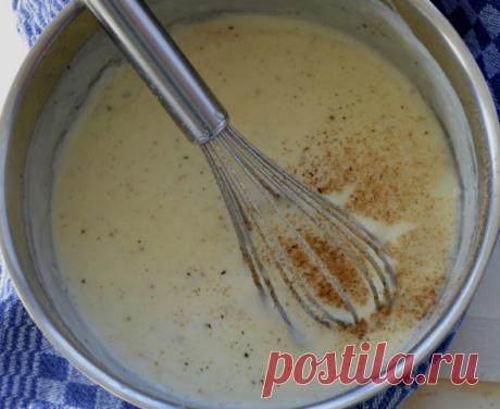 Изумительный соус Бешамель или всемирно известный классический белый соус (рецепт, секреты, советы) Соус Бешамель — один из самых классических соусов, умея готовить который, вы очень быстро решите проблему, а чтобы такого новенького и нескучного приготовить на обед или ужин!