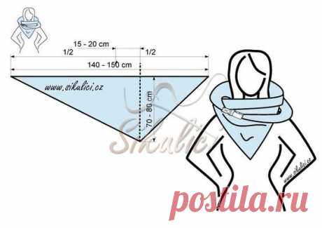 Свежая подборка идей и выкроек оригинальных теплых шарфов