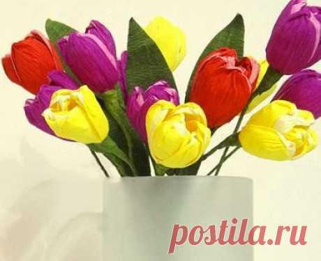 Как сделать тюльпаны из бумаги своими руками. Я не ошибусь, если скажу, что тюльпаны из бумаги, созданные своими руками,...