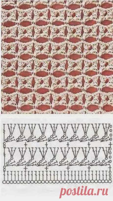 УЗОРЫ КРЮЧКОМ | Ольга Мамолюк | Posts about knitting on Postila