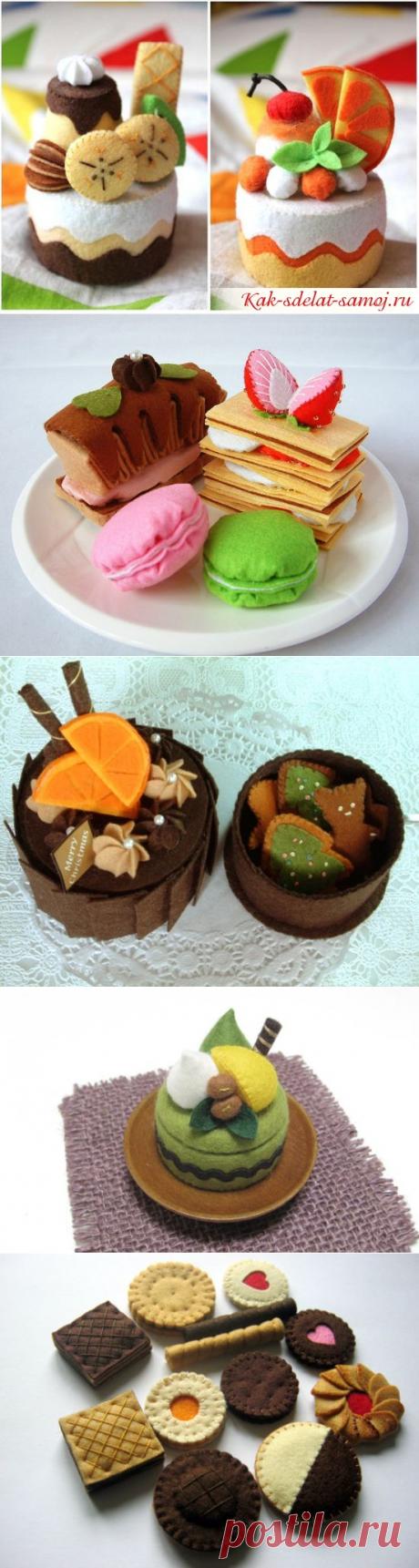 Пирожные из фетра: фото, выкройки, мастер-классы