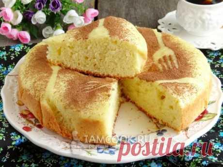Бисквит на сковороде