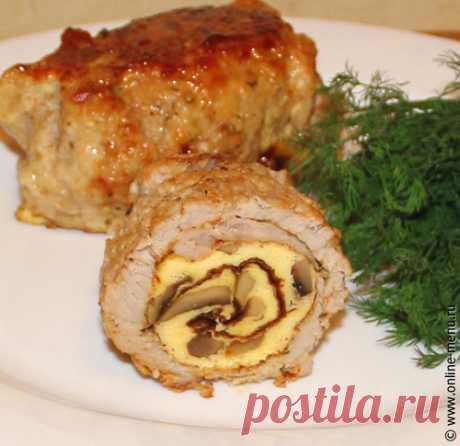 Крученики с омлетом и грибами — рецепт - Онлайн-меню - рецепты с фото