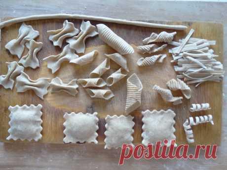 Самые вкусные макароны в мире те, что сделаны своими руками! (Покажу: 2 рецепта и 6 вариантов формовок) - Пир во время езды