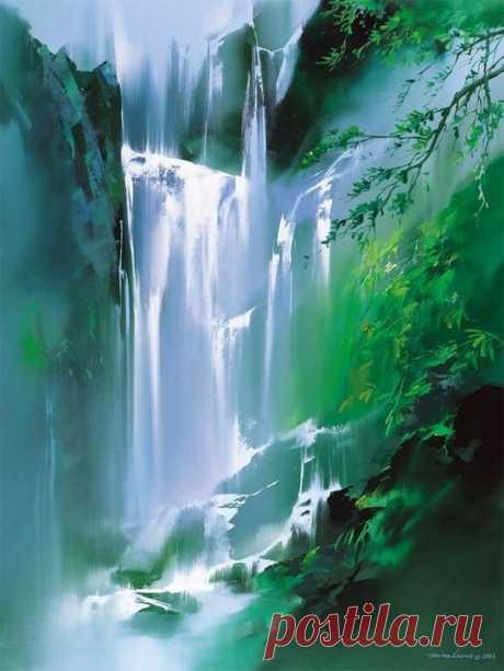 Хонг Леунг (Hong Leung) использует цвет как музыку, рисуя оттенками романтичные ритмы. Его кисти как ноты, плетут кружево картины, чередуя спокойствие и драму.