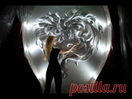 Рельефные панно, роспись стен.  Wall plaster decor, murals, wall painting