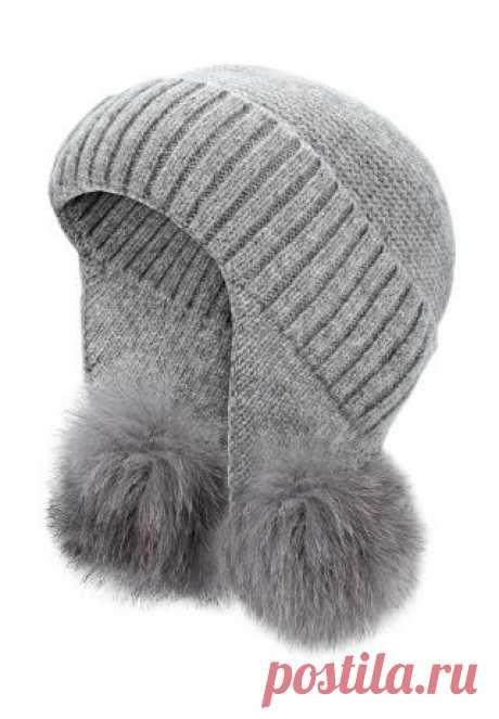 Необычная шапка с помпонами Модная одежда и дизайн интерьера своими руками