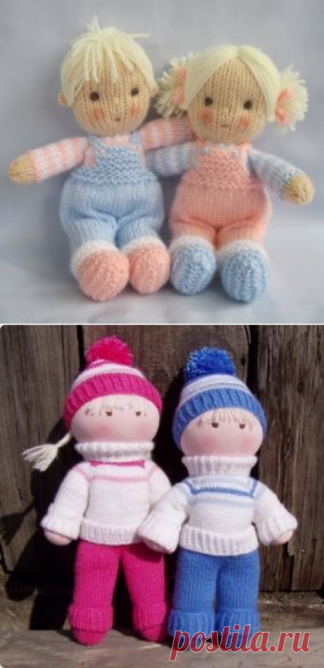 Knitted dolls spokes: a master class with step-by-step photos
