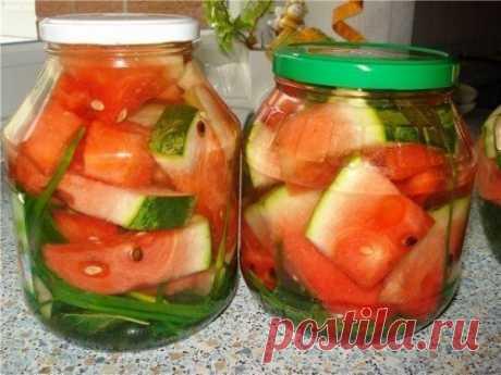 Рецепт ароматных маринованных арбузов