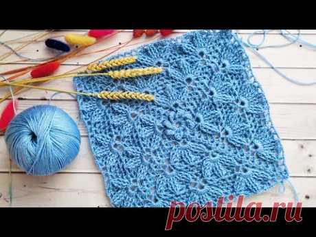 """🍀Плед """"Трилистник"""" единым полотном🍀Узор для пледа и декора крючком🍀Plaid crochet pattern 3 D🍀"""