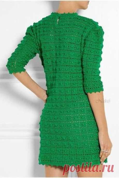 Интересный узор для платья крючком