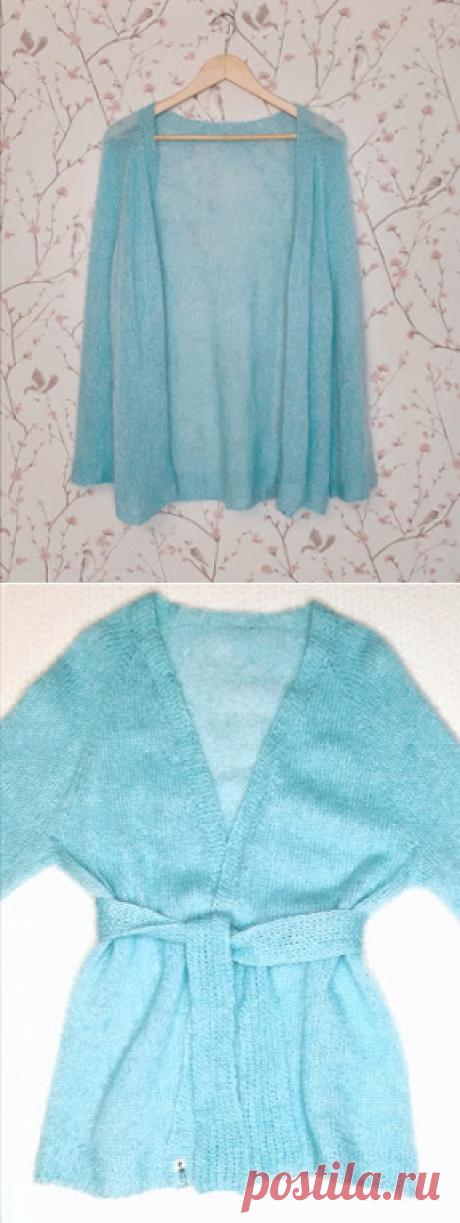 1000 идей для вязания спицами: Кимоно из мохера