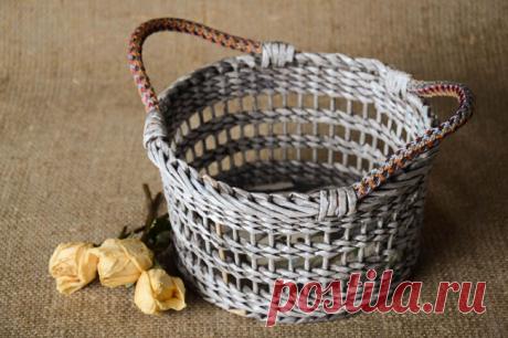 Плетение корзин из газетных трубочек [Мастер-классы]