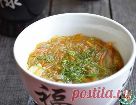 Густой грибной суп с фунчозой – кулинарный рецепт