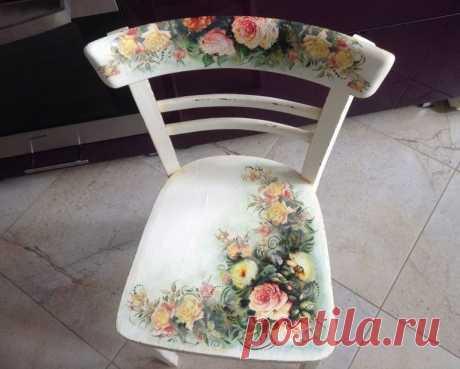 Как обновить и украсить старый стул или табуретку своими руками